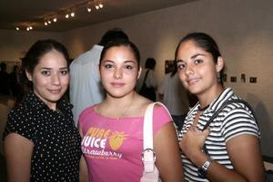 Julieta Herrera, Susana Sánchez y Daniela Rodríguez.