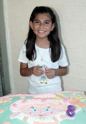 María José Barrón en su cumpleaños.