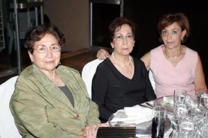 Linda de González, Tere Barrios de Solteo y Graciela Castañeda de Barrios.