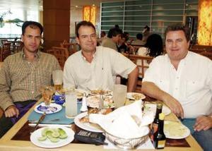 Rafael Delgado, Mauricio Ceniceros y Luis Dugay.