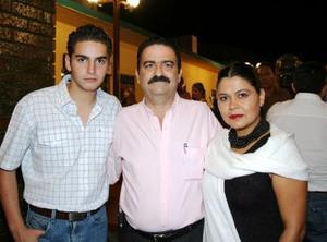 David García, Javier García y Laura Velázquez.