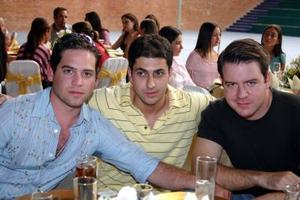 Jorge Fernández, Francisco Batarse y Ricardo García.