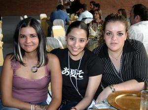 Narda Ramírez, Ilse Iparrea y Marylú Gidi.