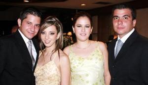 <u><i> 20 de octubre de 2004</u></i><p>  José Lorenzo del Bosque, María Amarante, Mariana Alarcón y Jorge Mena