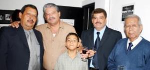 Carlos Maqueda, Mario Alberto Rubio, Jorge Ignacio Mena, Ignacio Mena y Alberto Rubio García, en pasado acontecimiento social