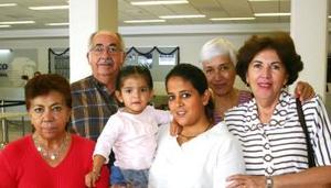 <u><i> 20 de octubre de 2004</u></i><p>  Guillermina de Mijares, Karla y Norma Chávez viajaron al DF, las despidieron Jaime y Adriana Blázquez y Eugenia