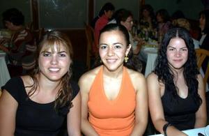 Jessica Trasfì, Marcela Sánchez Pámanes y Adriana Reza Jiménez.