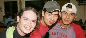 Juan Medina, David Alonso y Ricky Torres.