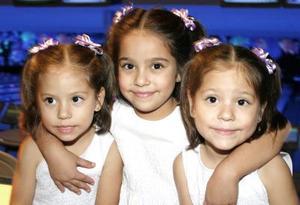 María José, María Isabel y María Alicia Ojeda González disfrutaron de un convivio infantil, con motivo sus respectivos cumpleaños en días pasados.