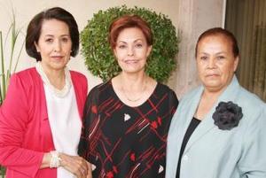 Chela Pérez, Carmen Villarreal e Isabel Medrano.