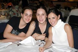 Beatriz Murra, Bárbara Berlanga y Paulina Garza.