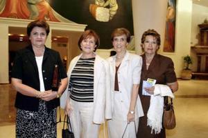 Irma H. de Sosa, Márgara de Duéñez, Lola de Montaña y Cristina Olvera