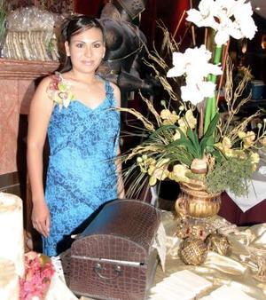 Lic. Jéssica Maricela MArtínez Rodríguez, en su despedida de soltera.