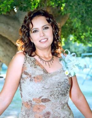 Sandra Ramírez Tovar, en su despedida de soltera.