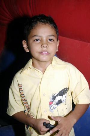 Sergio Diosdado Beltrán celebró su octavo cumpleaños, con una merienda que le prepararon sus papás