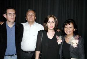 Ignacio Sánchez R., Ignacio Sánchez S., Consuelo Rolón y Margarita T.