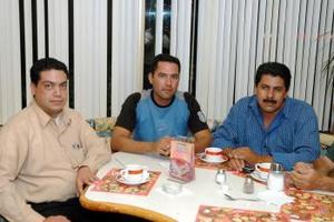 José Ponce, Alfredo Hernández y Jorge Martínez