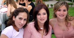 Ana Gaby Tumoine, Paola Boehringer y Sandy Cabrera