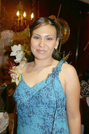 Jéssica Maricela MArtínez Rodríguez, captada en su primera despedida de soltera.
