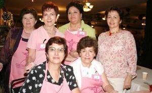 Rosario de Ortiz, Carmelita Herrera, Leticia de González,  Ángeles Valdés, Bety Montaña y Leticia Alatorre.