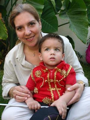Jose Enrique y su mamá