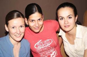 Arlette Maycotte, Paty García y Érika Wolff.