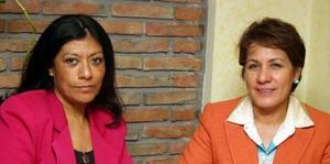 Esperanza Semaboine y Josefina Rodríguez.