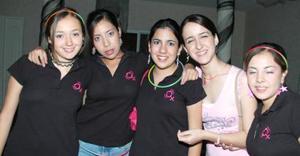 Ale Mijares, Carla Ávalos, Clary Bravo, Sofía Quintana y Xiomara Acosta.