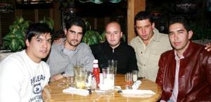 José Mario Rodríguez, Juan Carlos Castillo, Abraham Maturino, Óscar Arizpe y José Luis Sánchez.