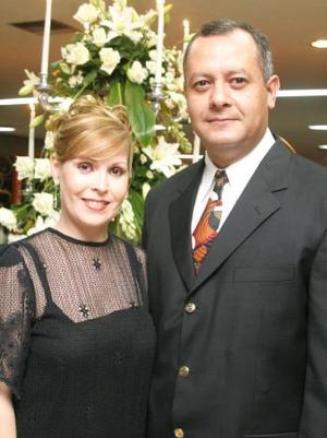 Estela Esténs de Barrios y José Barrios Cázares.