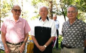 Ignacio Obeso, Luciano Arriaga y Luis Amarante.