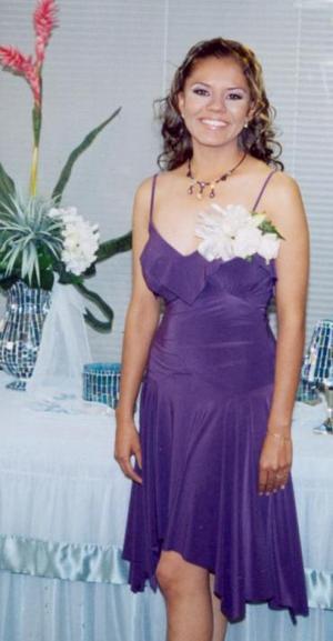 María de Jesús Nájera Moreno, en la despedida de soltera que le ofrecieron por su próxima boda con Flavio Christian Lam.