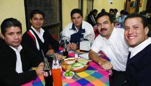 Miguel A. Esquivel, Elías Vélez, Jaime Armando García, Francisco Zamora y Gerardo Cortés.