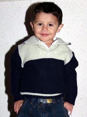 El pequeño Edson Salvador Sánchez, el día que festejó su tercer cumpleaños.