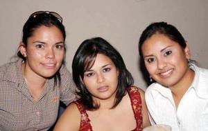 Candi Godina, Adriana Corral y Ana Jiménez