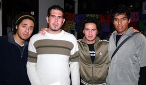 Roberto Nuñez, Francisco Bernal, Quillo Aguado y Mauricio Ruvalcaba