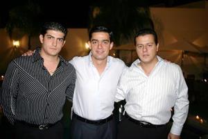 Yuseff Mansur, Nesim Issa y Antonio Juan Marcos.