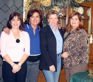 Adriana Suárez, Kitty Domínguez, Diana Triana y Velia Ríos