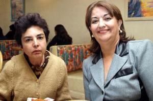 Leticia de Galván y Ángeles Torres