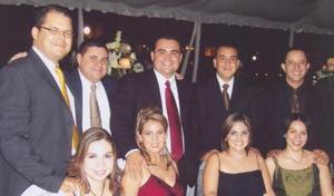 Grupo de amistades en la boda de Jose Antonio Vazquez y Elizabeth Segura Delgado