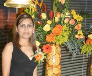 Mayela Hurtado Soto, captada el día de su despedida de soltera