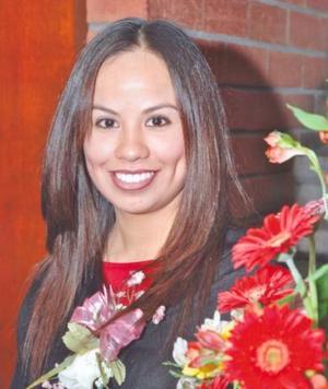Irma Paola Ramírez Canales el día de su despedida de soltera