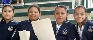 María Luisa Balderas, Nathalia Ortiz, Ximena Esparza y Blanca Villegas