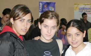 Rosario Salas, Mariana Bohingas y Marcela Jayme