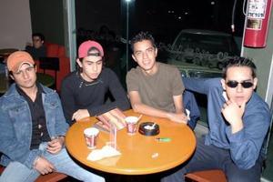 Félix Mora, Roberto Rivera, Tony Siller y Cristian del Piero