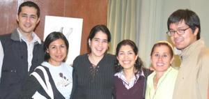 Gabriel Leal, Vero Ramírez, Idoia Leal, Ana Sofía García Camil , Ionne Villarreal y Adriana Ramos