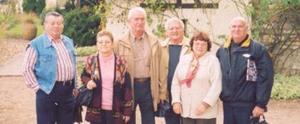 Romualdo Segovia acompañado por sus amigos, Jean Yvonne, Jean Ranaud, Pierre y Luz Le- Cozler