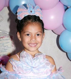 Montserrat Reyes Sierra disfrutó de una fiesta infantil