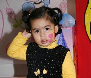Sofía Bautsta Martínez celebró su segundo añio de vida con una merienda que le prepararon sus papás