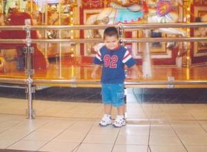 El pequeño Brandon Soto Hernández en Las Vegas